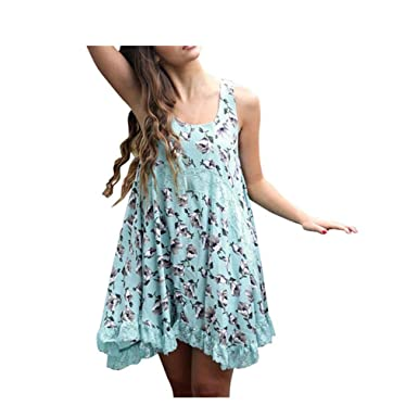 fd8e223178a Xjp Women Chiffon Lace Floral Cocktail Mini Beach Dress  Amazon.co.uk   Clothing