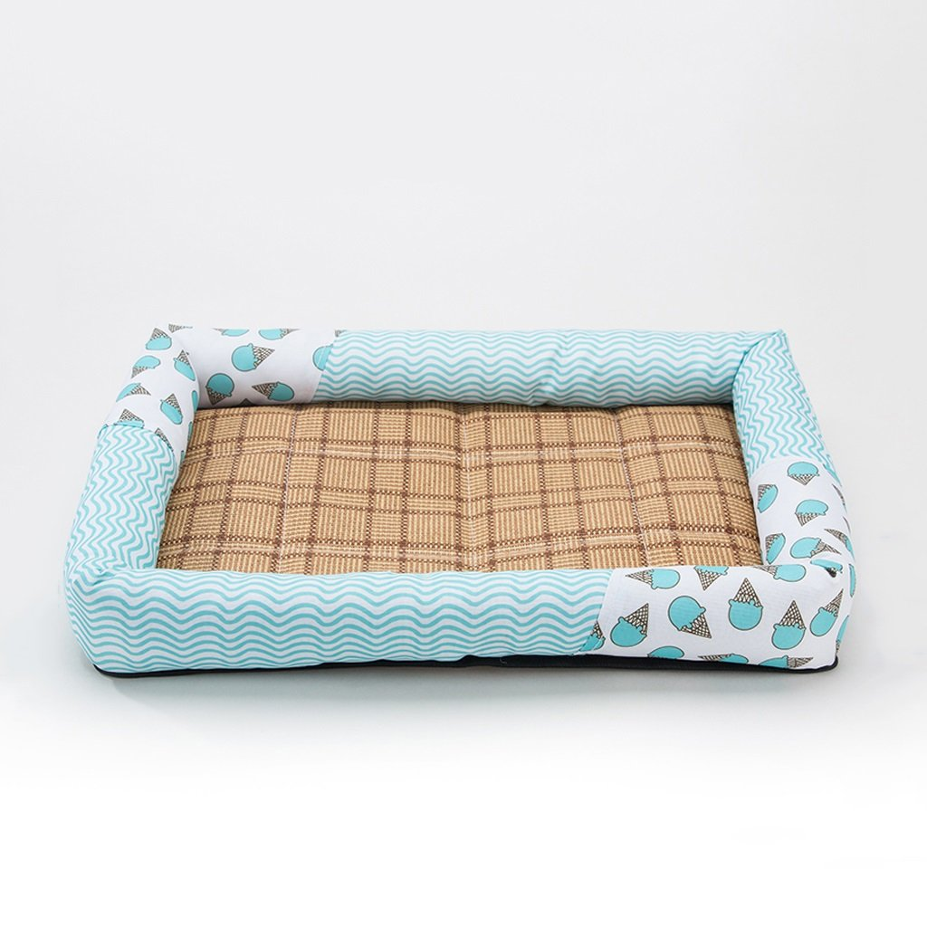 L Small tree Pet dog cool pad, Indoor Cat Mattress Pet Supplies, Made of bluee Waterproof Oxford Cloth (Size   L)