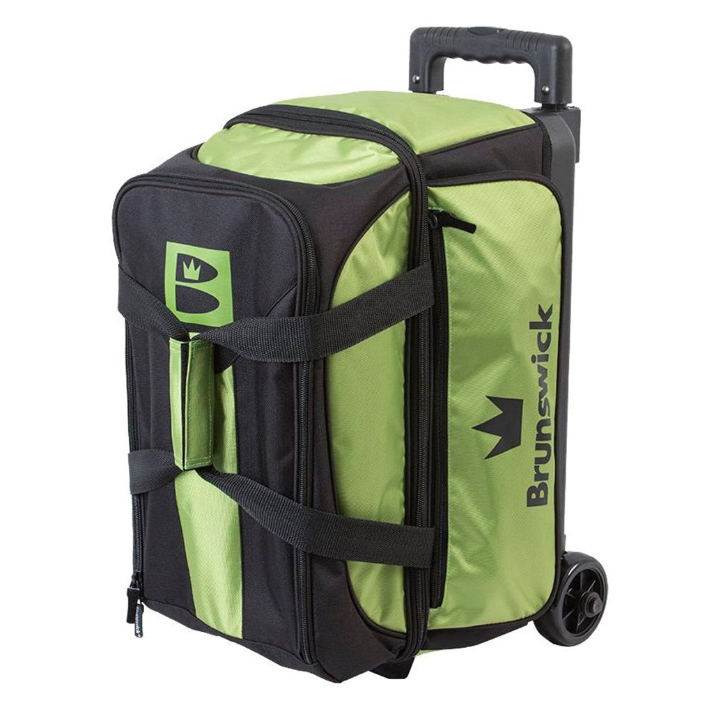 Brunswick Blitz Double Roller Bowling Bag, Lime