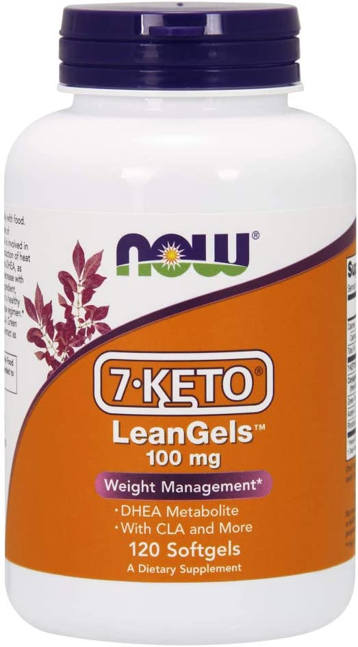 NOW Supplements, 7-Keto LeanGels 100 mg with CLA, Green Tea Extract, Acetyl-L-Carnitine and Rhodiola Extract, 120 Softgels: Health & Personal Care
