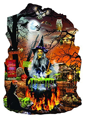 Witch's Brew Shaped 1000 Piece Jigsaw Puzzle by SunsOut - Halloween Theme Puzzle -