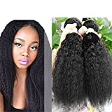 Ms Mary Hair Mixed Length 20inch 22inch 22inch Mongolian yaki Afro Kinky Straight Hair 3 bundles 100% Human Hair Weave Extension Grade 6A Natural Color 300g Total yaki Human Hair