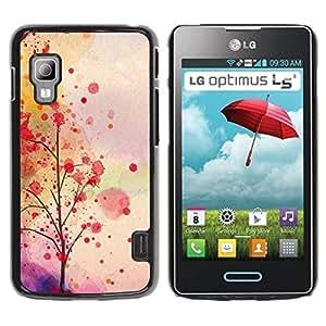 Paccase / SLIM PC / Aliminium Casa Carcasa Funda Case Cover para - Autumn Leaves Tree Romantic - LG Optimus L5 II Dual E455 E460