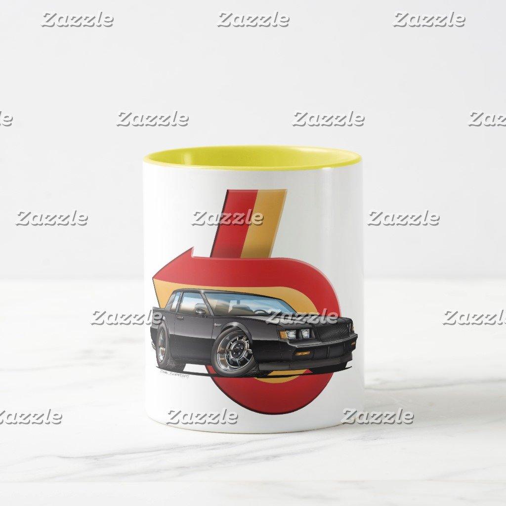 Amazon.com: Zazzle Buick Grand National Coffee Mug, Navy Blue Combo Mug 11 oz: Kitchen & Dining