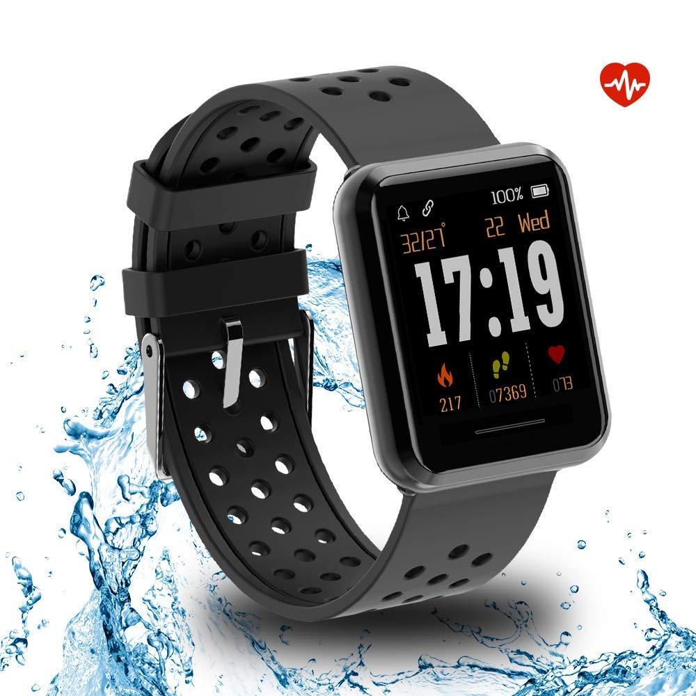 Kospet Smartwatch, Impermeable Reloj Inteligente con Podómetro/Contador de Calorías/Pulsómetro/Monitor de Sueño/Notificación Llamada y Mensaje, Pulsera para Mujere Hombre Compatible conAndroid y iOS product image