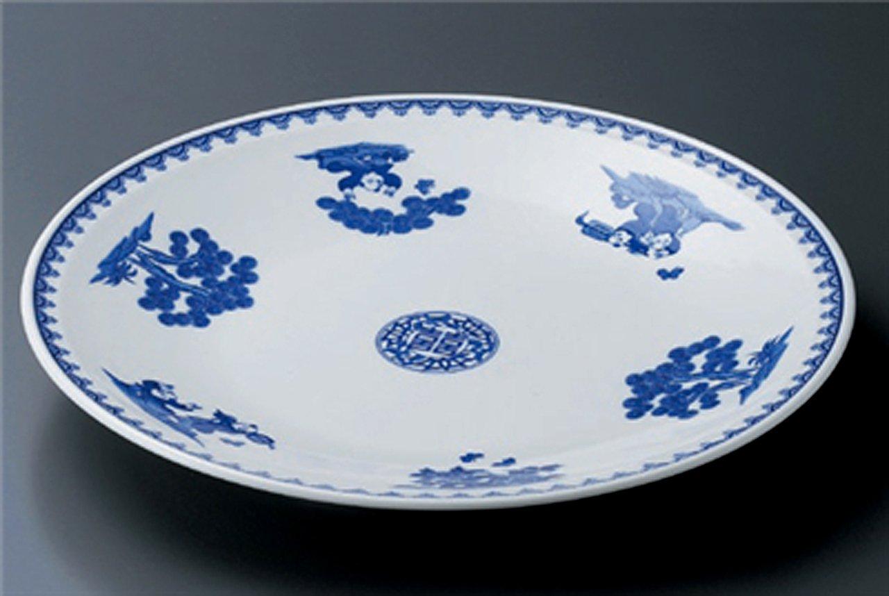 SOMETUSKE-KARASHI JIKI Japanese traditional Porcelain Medium Plate made in JAPAN
