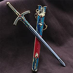 Anime Fate Stay Night Saber's Sword Cosplay Keychain Pendant Key Rings