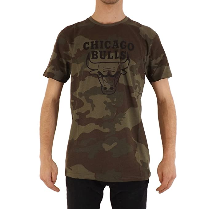 A NEW ERA Camiseta NBA Chicago Bulls Bng Graphic Verde/Negro/Multi Talla: