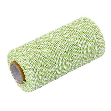 UEETEK 100m algodón panaderos guita cuerda para regalo caja decoración verde de botella de vidrio