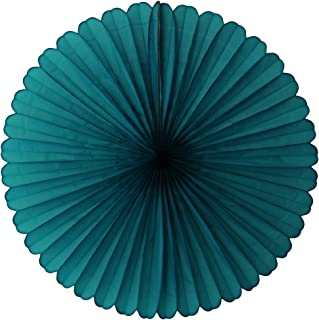 product image for 3-pack 13 Inch Tissue Paper Party Fans (Teal Green)