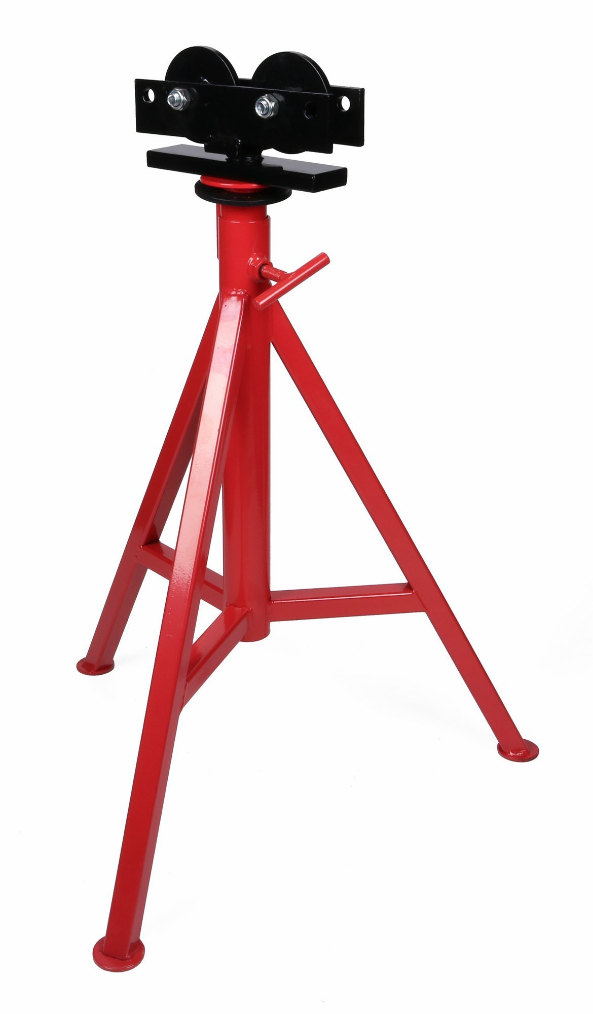 Toledo Pipe 56672 1/8''-12'' Roller High Head Pipe Stand Adjustable 29''-49'' fits RIDGID Model RJ-99 With Adjustable Roller