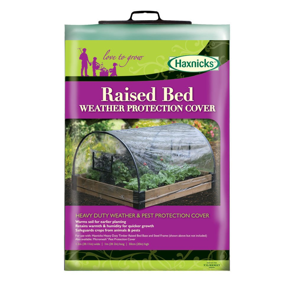 Haxnicks Bed010104 Raised Bed Pest Protection Micromesh Cover, White, 120x100x50 cm
