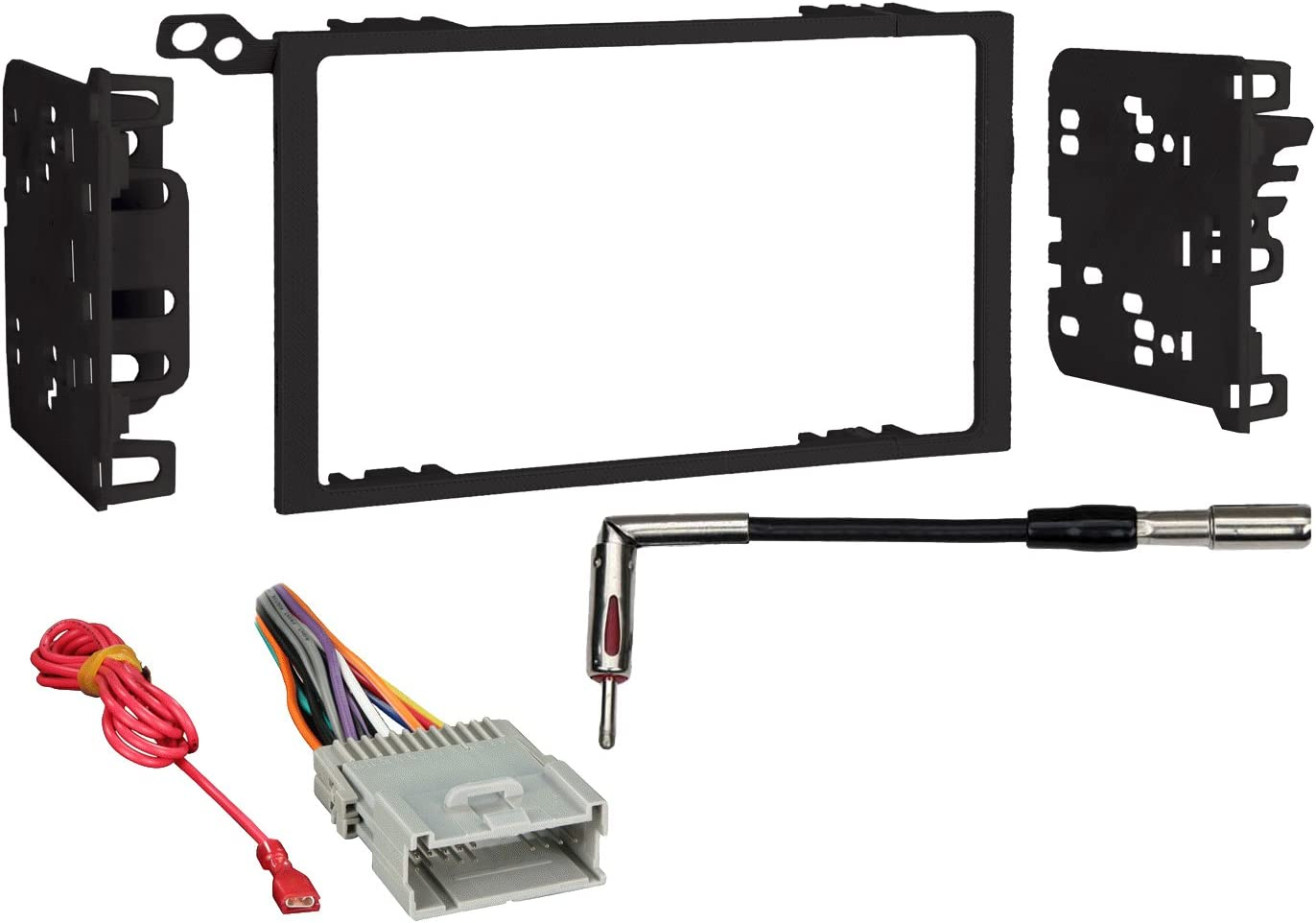 Metra 95-2009 2-DIN Dash Kit Harness Antenna Adapter for Select Chevy//GMC