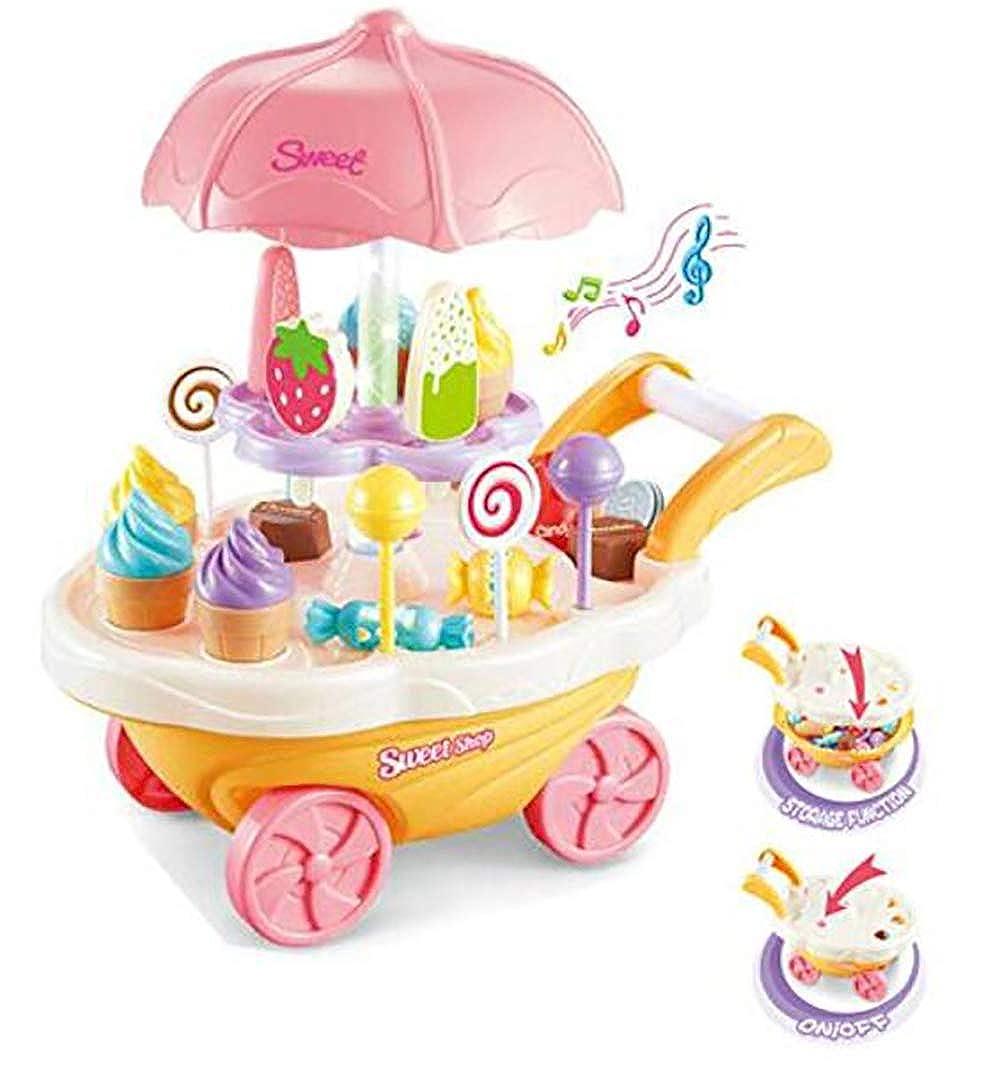 Kids SimulationToys, Ice Cream Candy Cart Juego de simulación Food Dessert Candy Trolley de Juguete con música y luz para niños Best Gift: Amazon.es: Ropa y ...
