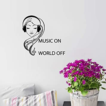 Amazoncom Atuai Motivational Wall Sticker Quotes Teen Girl With