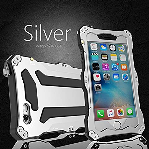 """iPhone 6 Plus Case,Bpowe Gorilla Glass Aluminum Metal premium protection Shockproof Military Bumper Heavy Duty Sturdy Protective Cover Shell Case for iPhone 6 plus / 6s plus 5.5"""" (Iphone 6 Plus Military Metal Case)"""