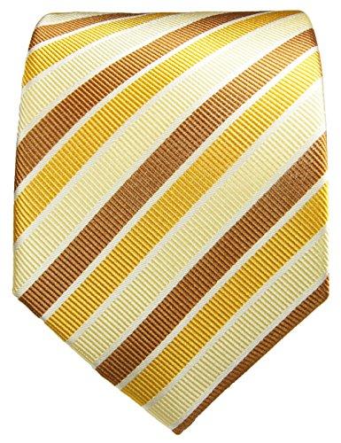 Cravate homme marron or rayé ensemble de cravate 3 Pièces ( longueur 165cm )