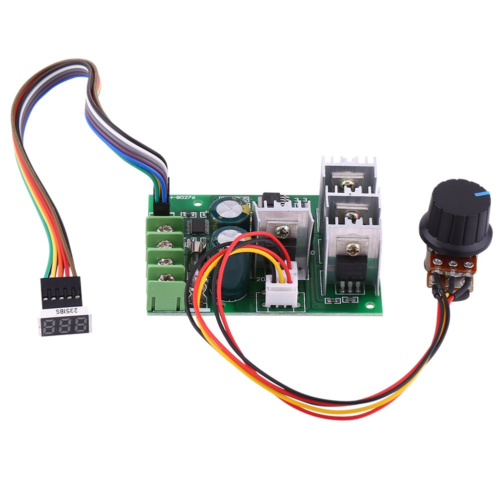DC Motor Speed Controller 6V 9V 12V 24V 36V 48V 60V 30A with Digital Display DC Motor Driver Module Walfront