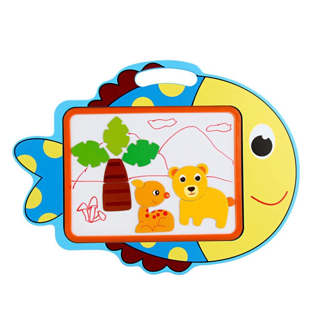 Cavalletto per bambini Una varietà di stili di cartoni animati Bambini cartone animato Tavolo da disegno Tablet magnetico Baby Baby Toys colore Piatto in legno Graffiti 1-6 anni ( colore   D )