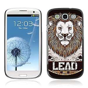 A-type Arte & diseño plástico duro Fundas Cover Cubre Hard Case Cover para Samsung Galaxy S3 III / i9300 i717 ( LEAD León impresionante Insignia Arte )