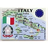 "Italy EU Series Souvenir Fridge Magnet 2.5"" X 3.5"""