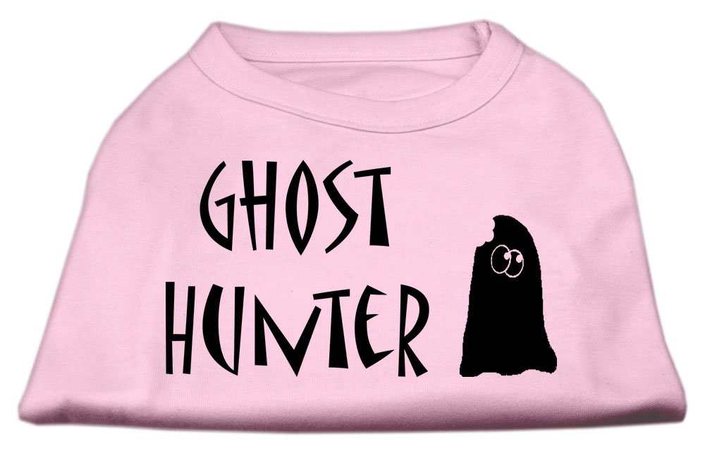 Mirage Pet Products Ghost Hunter Screen Print Shirt Light Pink with Black Lettering XS (8)