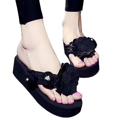 57444639b69d0b C wait Womens Summer High Heel Platform Wedge Sandals Cute Flip-Flops Thong  Slippers