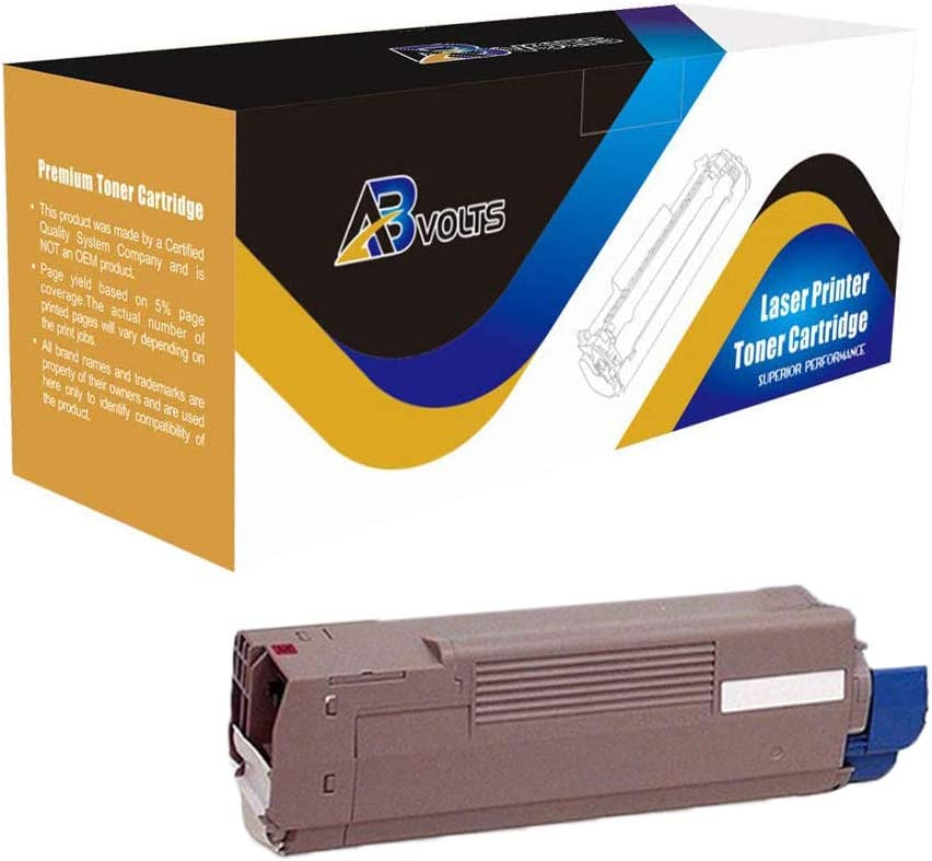 Magenta,1-Pack AB Volts Compatible Toner Cartridge Replacement for Okidata 43324467 for C6000 C6000N C6000DN C6050 C6050N C6050DN