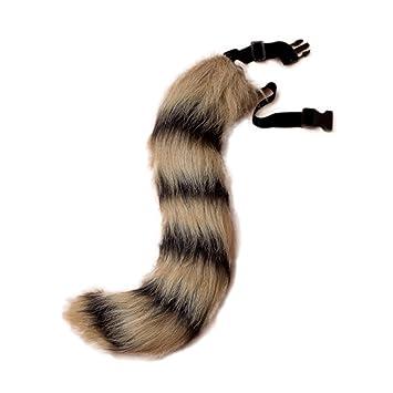 JTENGYAO Unisex Faux Fur Fox cola para adultos traje de ...