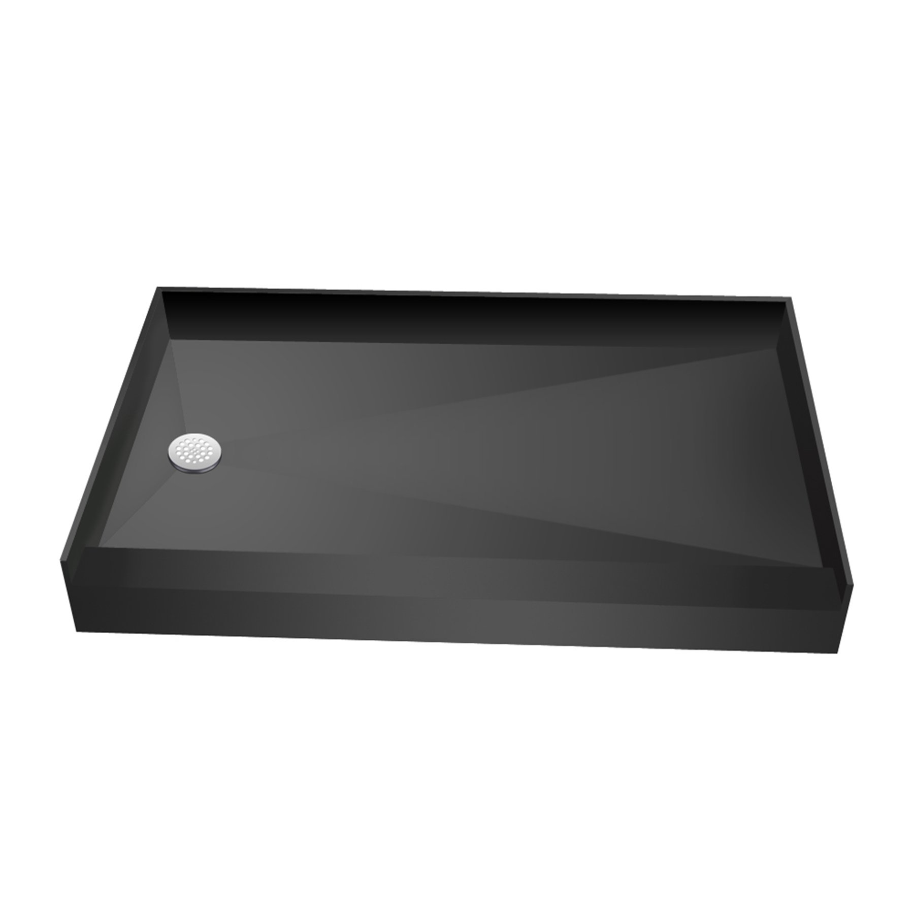 Tile Redi USA 3060LSPVC-13-2-4 Redi Base Bathtub Replacement Pan with Left Drain, 30'' D x 60'' W