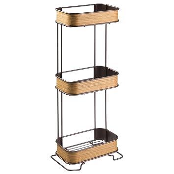 Amazon Interdesign Realwood Free Standing Bathroom Storage