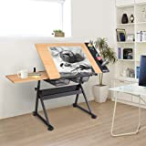Bonnlo Professional Drafting Desk, Wooden Drawing