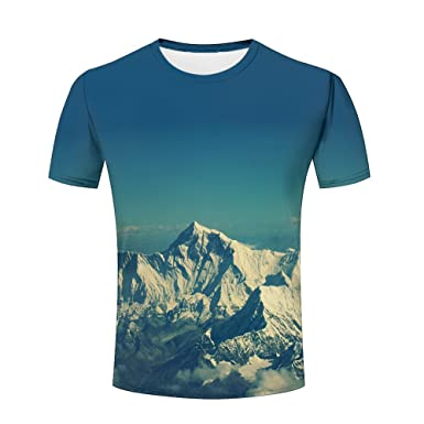 722b3303716c lingshirt Unisex Men Beautiful Mountains Funny 3D Printed T-Shirt S-XXXL M