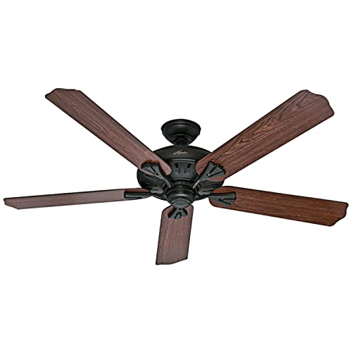 Hunter Fan Company Hunter 54018 Traditional 60 Ceiling Fan from Royal Oak collection Dark finish, New Bronze