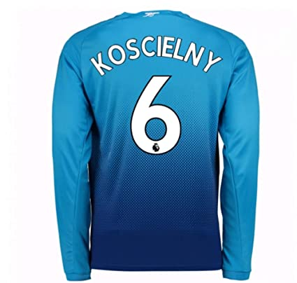 aea3a3bce Image Unavailable. Image not available for. Color  2017-2018 Arsenal Away  Long Sleeve Football Soccer T-Shirt Jersey (Laurent Koscielny