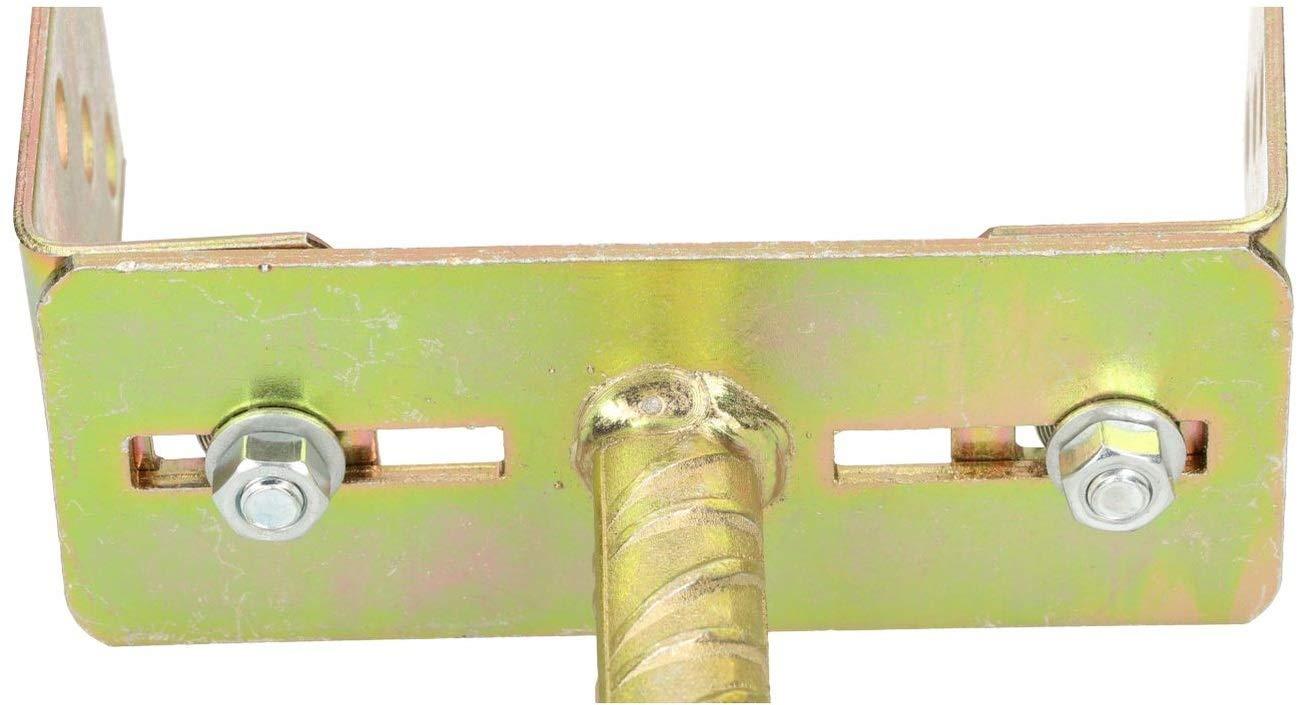 Kotarbu Support de poteau en U r/églable de 0 /à 160 mm de largeur et 385 mm avec ancrages en b/éton