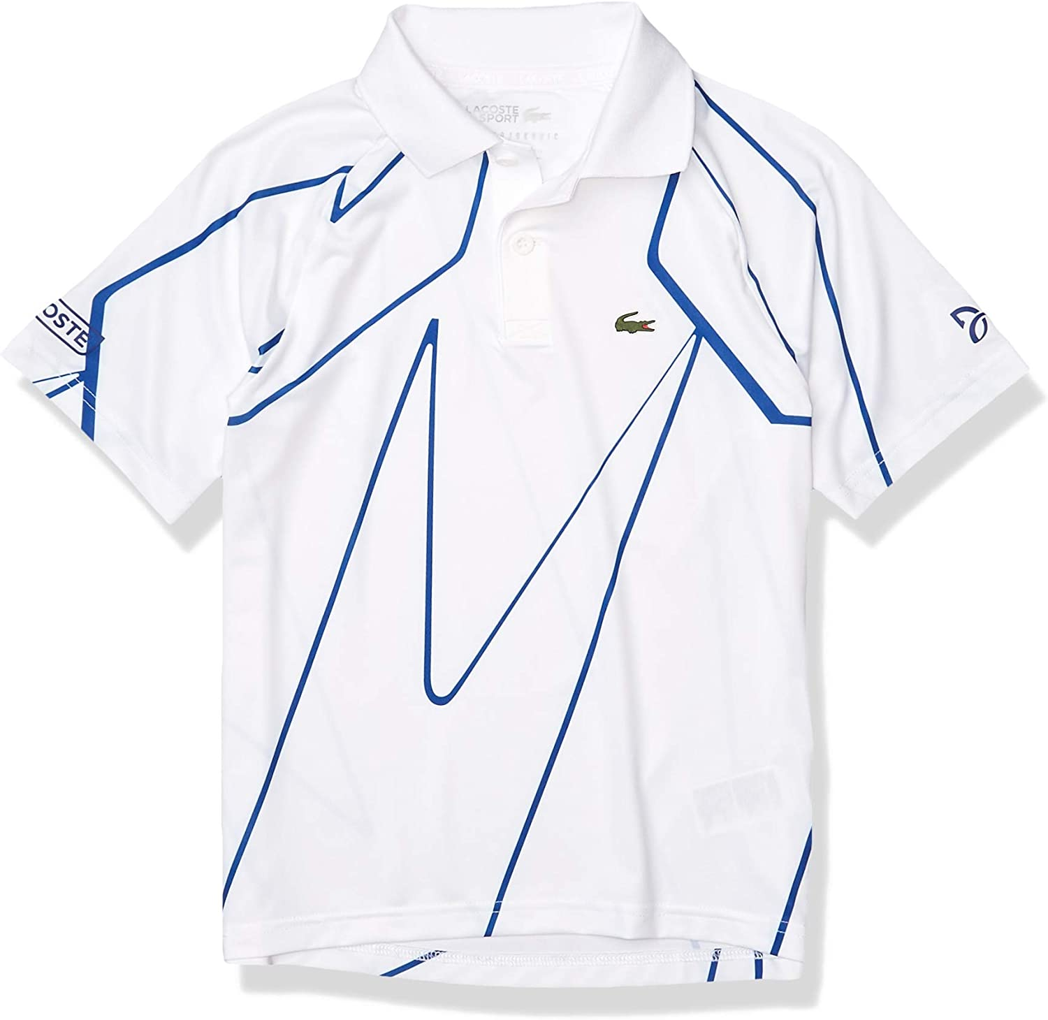 Amazon Com Lacoste Boys Sport Novak Djokovic All Over Print Jersey Polo Shirt Clothing