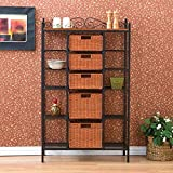 Home Decorators Collection Manilla Steel 31-1/2 in. W Baker's Rack with 5-Drawers