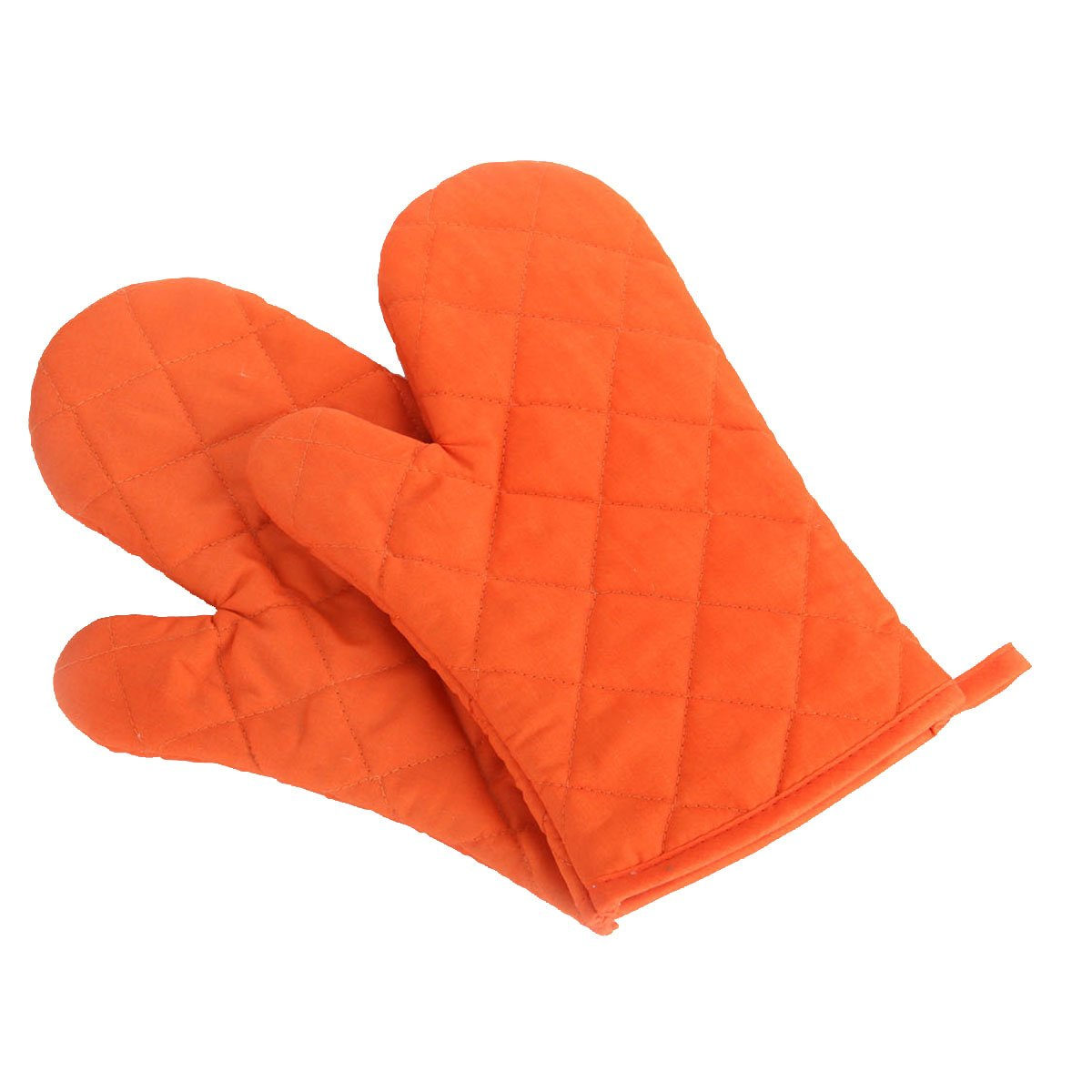 Artmoki Oven Mitts Heat Resistant Baking BBQ Set of 2 Oven Gloves Cooking Grilling High Temperature Hand Protection, 11 X 5.9 Inches - Orange