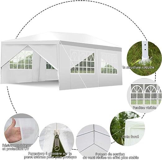 Yongtaifeng Tente de Réception pour Jardin 3×6M Utilisation ...