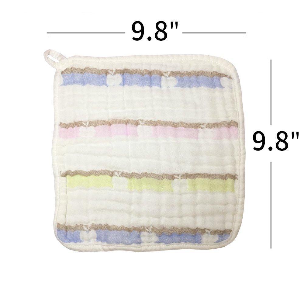 Super absorbente y suave Baby Face Toalla para pieles sensibles Baby Manopla y toallas de mano de beb/é de toallitas en Premium Leche algod/ón 4 Pack