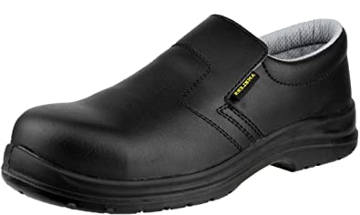 Amblers Safety Mens FS661 Slip On Waterproof Safety Shoes Black