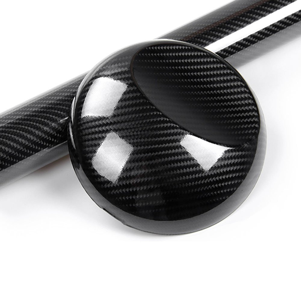 Pellicola per auto 5 D lucido carbonio nero 30 cm x 152 cm, collante per canali d'aria collante per canali d' aria Carbon Alpar
