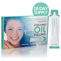 SOMATOX - COCONUT OIL PULLING KIT - Natural Teeth Whitening + FREE Tooth Shade Guide   Teeth Whitening Kit - Natural Teeth Whitening Detox - Virgin Coconut Oil With Mint   UK Formulated SOMATOX COCO BIANCO - Better Than Strips and Gels (28 Day Course)