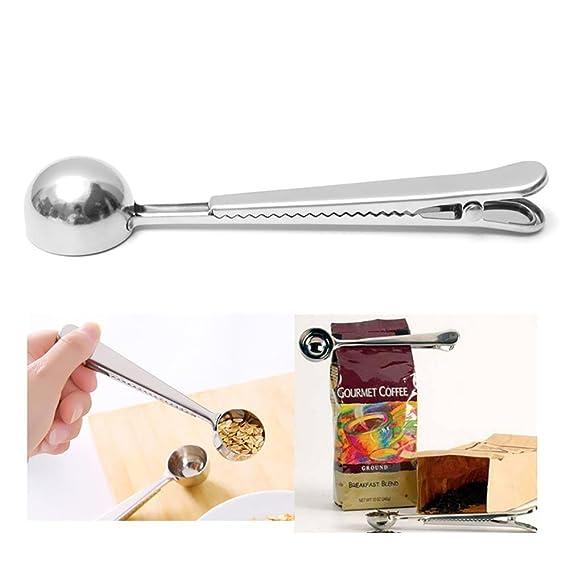 AOLVO Cesta de té verde durable, de acero inoxidable, gran tamaño, dispensador de té de malla de metal, difusor de filtro, Measuring Spoons: Amazon.es: ...