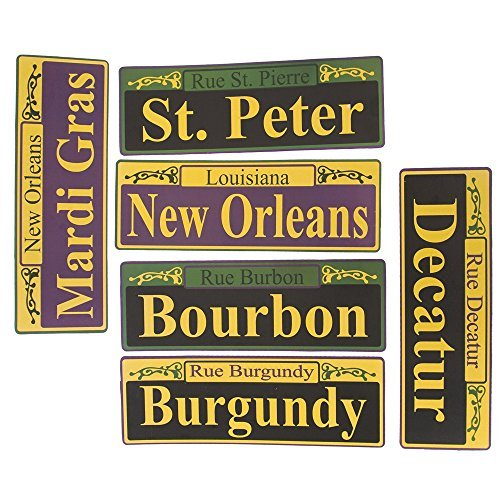 Fun Express Mardi Gras Street Signs - 6 Pieces