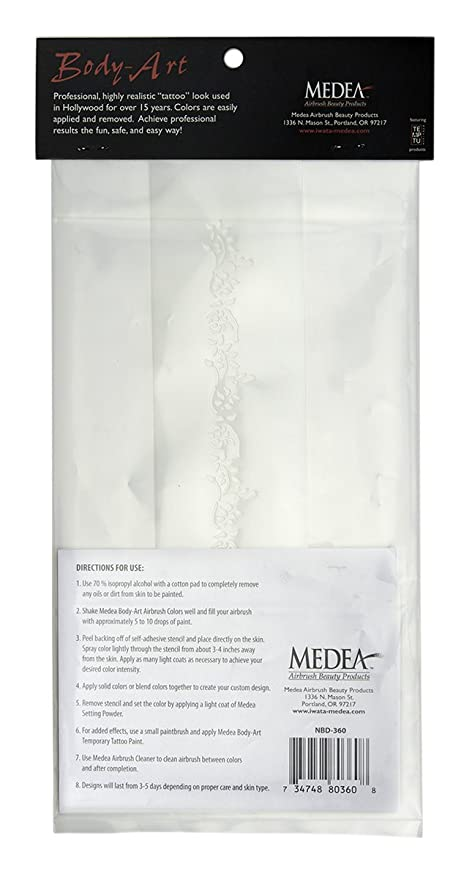 Buy Iwata Medea Airbrush Body Art Stencil Sealife Online At Low Prices In India Amazon In