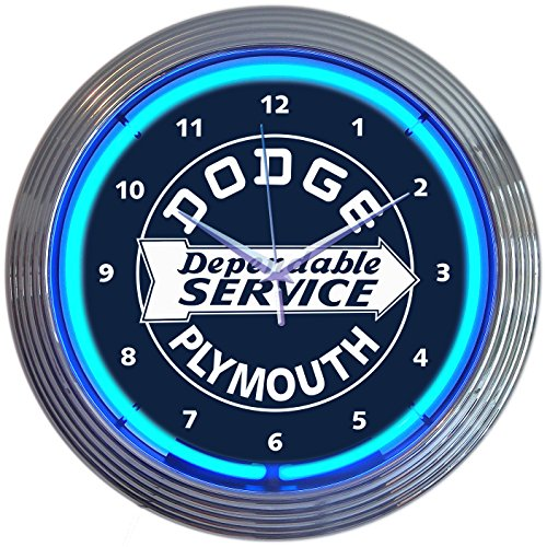 Neonetics Dodge Dependable Service Neon Clock