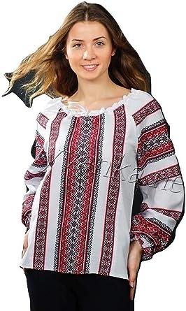 with Real Embroidery. Vyshyvanka Modern Designed Womens Ukrainian National Shirt