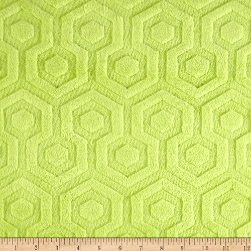 Premier Prints Embossed Geo Cuddle Apple Green Fabric